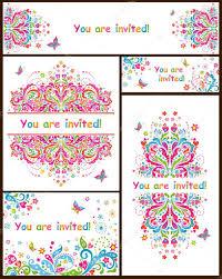 Vectores Plantillas Invitaciones Cumpleaños Plantillas Para
