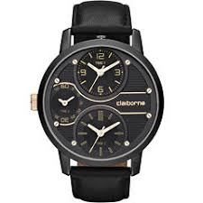 claiborne men s watches for jewelry watches jcpenney claiborne mens oversized dial black leather strap watch