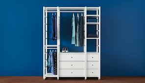 clothes storage systems. This Combination Of Three Sections With Rail Clothes Drawers And Shelves Is One The Storage Systems Ikea