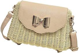 Pulama Wicker Woven Crossbody Straw Beach Bucket <b>Summer</b> ...