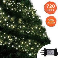 Christmas Tree Lights Amazon Christmas Lights 720 Led 9m Warm White And Cool White