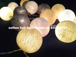 Decorative String Balls Impressive 32 Light Graywhite Yellow Balls Lighting Decorativestring Lights