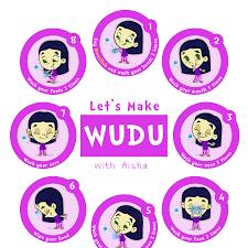 Lets Learn Wudu Poster Ali Blue Muslim Islam For Kids