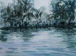 painting water in watercolor tutorial watercolor art painting forest and water atmosphere