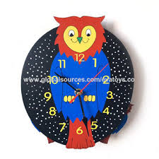fashion cartoon owl shaped wooden