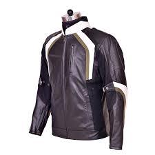 kawasaki premium leather jacket blk wht