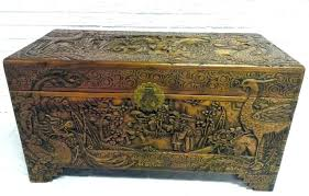 unfinished wood trunk wooden trunk chest old wooden chest trunk vintage antique large camphor wood trunk chest carved dragon wooden trunk unfinished wood