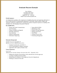 Resume For High School Graduate With No Paid Job Experience Incredible Decoration Resume Examples With No Work Experience High 2
