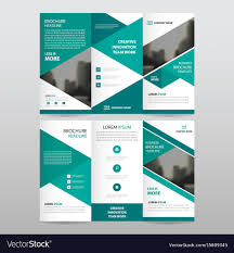 Trifold Template Green Triangle Business Trifold Leaflet Brochure