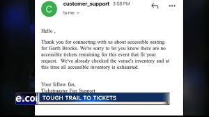 Garth Brooks Fan Gets Ada Tickets After Medical Issue