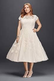 tea length knee length wedding dresses david s bridal