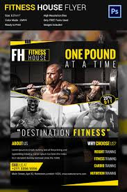business flyer templates psd illustrator format cool fitness house flyer template