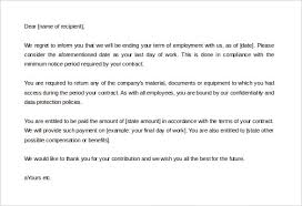 termination letter template download sample termination letter without cause