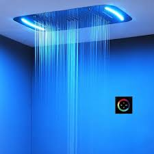 style led shower head fixed support