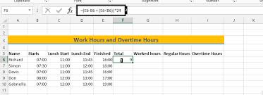 Overtime Calculation In Excel Format Best Excel Tutorial How To Calculate Overtime Hours