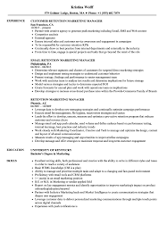 Retention Marketing Manager Resume Samples Velvet Jobs