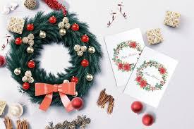 Christmas Card Images Free Free Printable Watercolor Wreath Christmas Card Dawn Nicole Designs