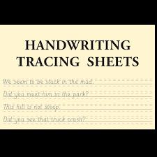 Handwriting Tracing Sheets