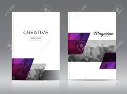 Magazine Cover Layout Design Template Vector Set Annual Report