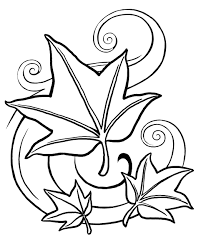 Small Picture Fall Leaves And Acorn Coloring Page Within Coloring Pages esonme