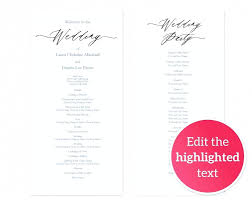 diy wedding programs fans template kits rustic program