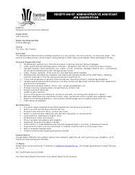 doc 570866 administrative assistant resume example sample resume job duties
