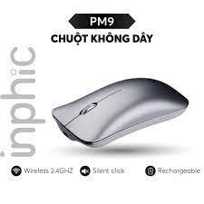 Chuột không dây Inphic PM9 có thể sạc lại dùng cho máy tính xách tay  Macbook PC - Chính hãng