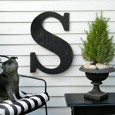large wood letters initial wall decor