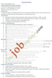Resume Format For Nurses India Resume Format