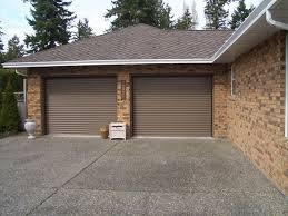 rollup garage doorResidential Roll Up Garage Door And Garage Door Openers On Garage