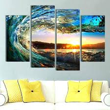 5 panel canvas wall art great wave multi large abstract prints wa on large multi panel canvas wall art with 5 panel canvas wall art great wave multi large abstract prints wa