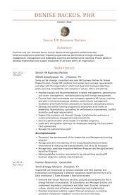 Senior Hr Business Partner Resume samples