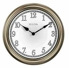 bulova c4826 light time wall clock