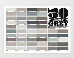 50 Shades Of Gray Color Chart The Best Alternative Valentines Gifts For Him And Her