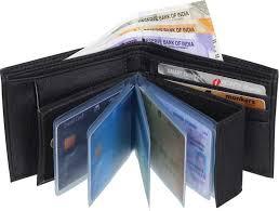 SAMTROH Men Formal <b>Black Artificial Leather</b> Money Clip BLACK ...