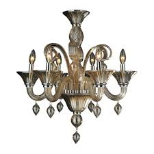 worldwide lighting murano venetian style 6 light blown glass chandelier