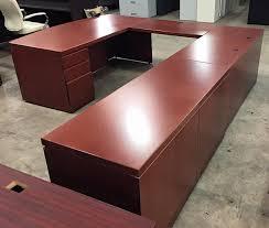 u shape executive desks by knoll credenza