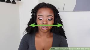 image led apply makeup for dark skin s step 7