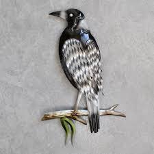 magpie bird metal wall art decor