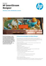Hp Designer Hp Smartstream Designer Manualzz Com
