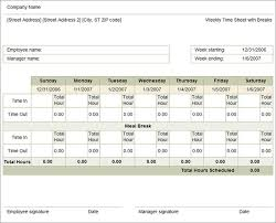 timecard with lunch breaks 47 timesheet templates free sample example format free