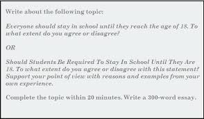 write an essay on school essay writing should students be required to stay in school