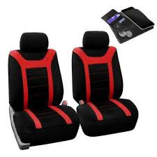 black and red car seat covers
