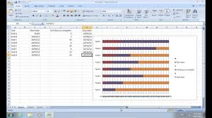 How To Draw A Column Chart In Excel 2007 How To Make Excel 2007 Gantt Chart