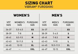 Vibram Size Chart Men Vibram Furoshiki Black Shoes