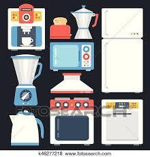 kitchen appliances clipart. Brilliant Appliances Clip Art  Kitchen Appliances Household Home Appliances Set Modern Flat  Icons Set To Appliances Clipart S