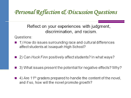 adventures of huckleberry finn ppt personal reflection discussion questions 6 preparation for huck finn essay