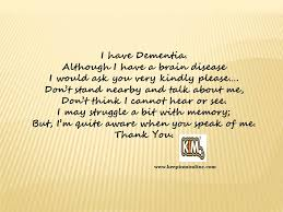 Dementia Quotes Delectable KIM Quotes Raising Dementia Awareness With Mini Messages Keep In