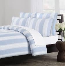 light blue striped duvet cover