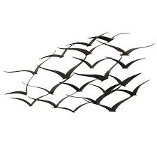 handcrafted flock of metal flying birds wall art on flying bird metal wall art with shop handcrafted flock of metal flying birds wall art free